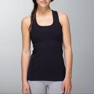 Lululemon Scoop Neck Yoga Tank Top Black 6